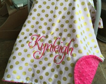 Personalized baby carseat canopy monogram car seat cover custom car seat canopy girl & Car seat canopy girl | Etsy