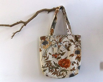 Large Tote, Cream Fabric Tote Bag, Eco Bag, Handmade by UK Seller, One of a Kind Bag