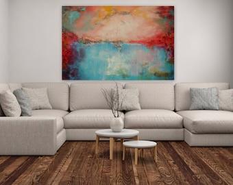 "Huge Wall Art,Abstract Painting,Wall Decor,Wall Canvas,Home Decor,Colorful Painting,Original Art,""Dreamland 1"""