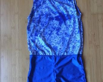 Blue lepord Leotard for girl