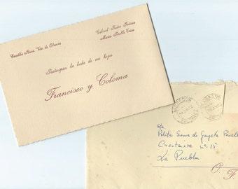 Vintage Wedding Invitation with envelope - P29