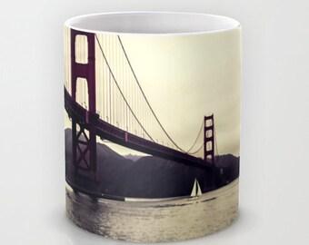 San Francisco, Golden Gate Bridge, Ceramic Coffee Mug, San Francisco Bay, California Mug