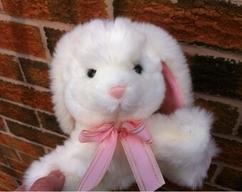 Bunny Rabbit Stuffed Animal Plush Toy Russ Berrie and Co