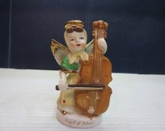 Vintage Artgift Angels Of The World Poland Gold Trim Figurine 1958
