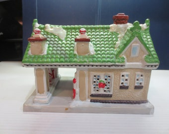 Texaco Hand Crafted Hand Painted Porcelain Town Filling Station #1 In Series