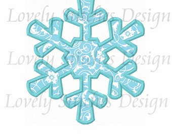 Snowflake Applique Machine Embroidery Design NO:0472