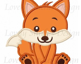 Baby Fox Applique Machine Embroidery Design NO:0509