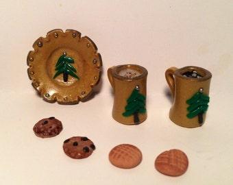 Miniature Cookies & Milk for Santa