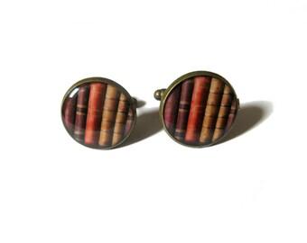 BOOKS CUFFLINKS - Library cufflinks - Bookworm gift - Book lovers cufflinks - Literary cufflinks - Books jewellery Book readers Shabby books