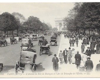 Arc de Triomphe Traffic, Paris Photo Postcard, c. 1910
