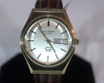 1980 Vintage Mens Bulova Accutron Quartz Watch