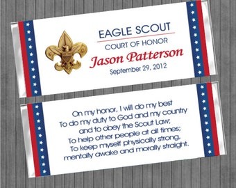 Eagle Scout Court of Honor Candy Bar Wrapper
