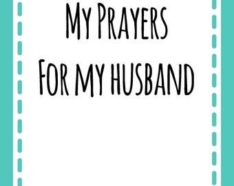 Prayer Scripture Cards for your Husband GREEN: Instant Digital Download
