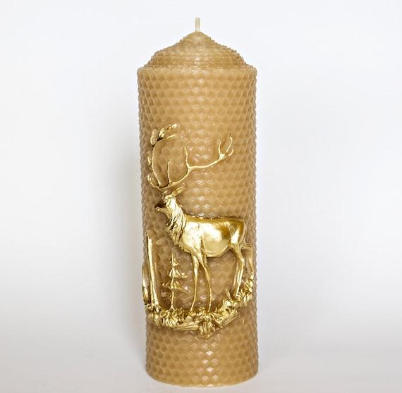 185 Oz100 Beeswax Candledeer Candlehome By Beeswaxmiracle-4727