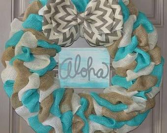 3 color Aloha wreath