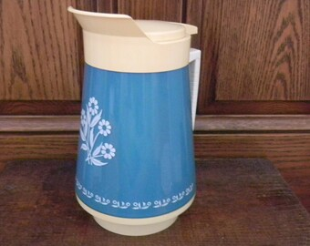 Beverage Server, Beverage Pitcher, Insulated Server, Thermo-Serve, Beverage Carafe, Insulated Pitcher, Insulated Carafe, Turquoise Kitchen