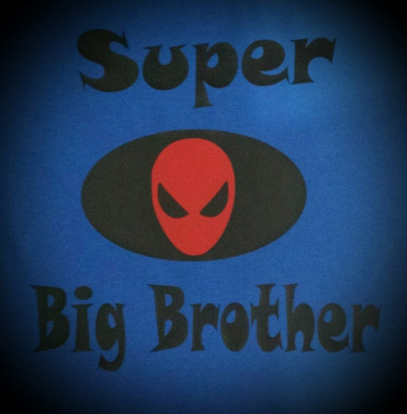 Super Hero Big Brother Shirt Batman Spiderman Superman Vinyl