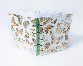 Handmade Coptic Stitch Journal, Notebook, Sketchbook - Elegance Butterfly