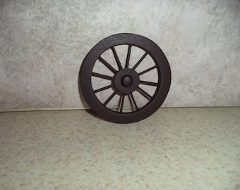 1:12 scale Dollhouse miniature Wood Wagon wheel