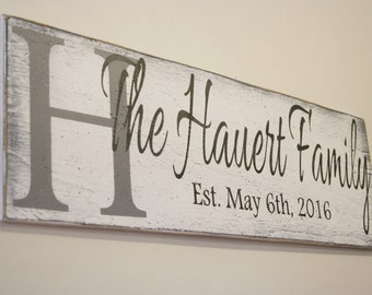 Name Sign Initial Sign Wood Sign Custom Sign Personalized Sign Wedding Gift Bridal Shower Gift Housewarming Gift  Anniversary Gift Handmade