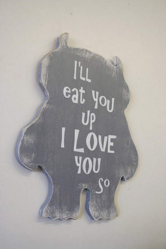 I Ll Eat You Up Where The Wild Things Are Nursery Decor
