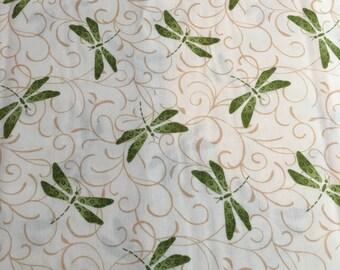 Tend the Earth by Deb Strain for Moda - Creamy White Green - 19547 11 - 1/2 yard cut