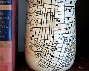 Historic Charleston map Vase