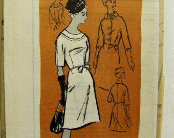 VINTAGE 1960s Reader Mail Order Prominent Designer ARDANTI  Jacket & Dress Pattern sz 12  UNUSED