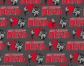 The Walking Dead Fabric 1 yd Cotton Fabric Think Halloween