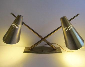 Atomic Lamps, Atomic Lighting, Atomic, Modern Lighting, Modern, Mid Century Lamps, Mid Century, Vintage Lighting, Cone Lamps, Double Lamps