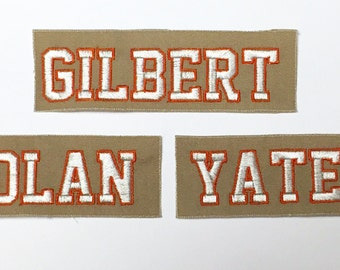 Ghostbusters Reboot Name Tags - YOUR NAME CUSTOM - Outlined Letters
