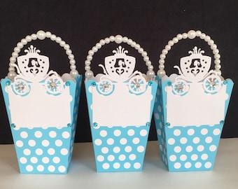 6 Princess Party Favor Bags, Princess Favor Bags.