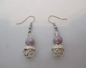 Frosted crystal earrings