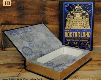 Hollow Book Safe - Doctor Who - Black Dalek Leather Bound