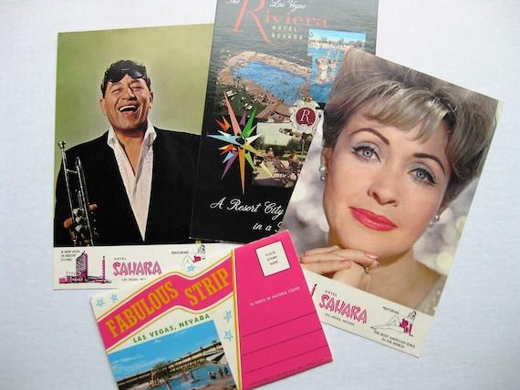 1960s Vegas ephemera. Sahara Hotel. Riviera. Jane Powell. Louis Prima. Photo book. The Vegas Strip. Gambling. Nevada history.