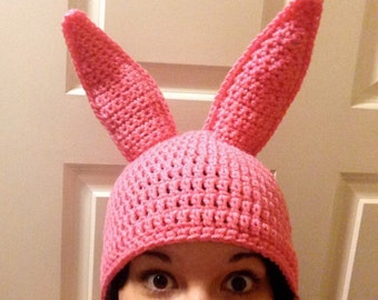 MADE TO ORDER - Pink Bunny Hat