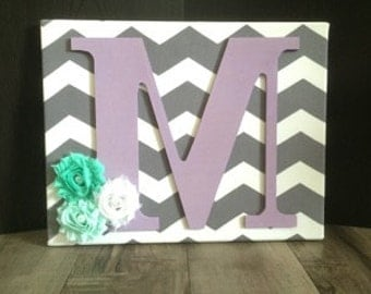 Chevron Canvas Letter