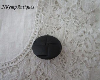 Antique french brooch 1910 black glass
