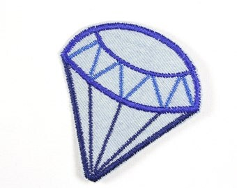 iron-on applique iron-on patches applique Patch Diamond 7,5 x 7cm / size inches 2.95 x 2.76