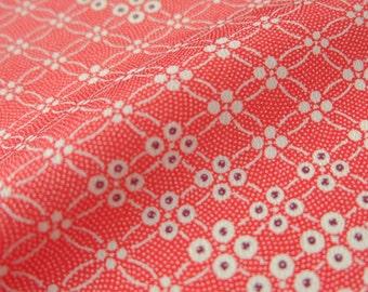Shippo Red Vintage Japanese Kimono Silk Fabric - BX010