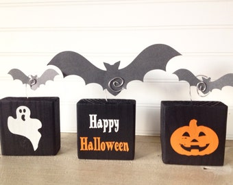 Photo Holder- Picture Holder- Wire Photo Holder- Photo Blocks- Photo Display Blocks- Halloween Photo Blocks- Halloween Decor- Halloween