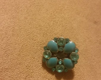Turquoise colored 18mm snap