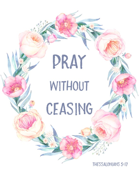 Pray without ceasing bible verse christian by for Pray without ceasing coloring page