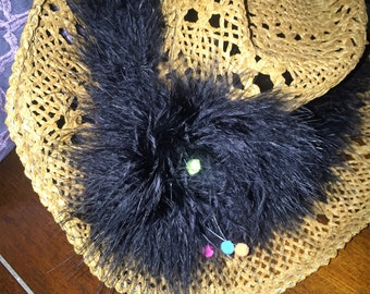 Feather Boa Hat Band