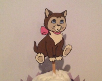 Alice in Wonderland's Dinah the Cat Cupcake Topper