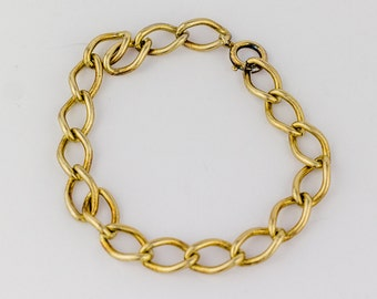 Vintage 1960s Gold Plated Sterling Silver Curb Chain Bracelet