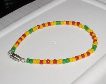 Vietnam / Viet Nam Service Ribbon Bracelet - BASIC  (No seperator Beads)