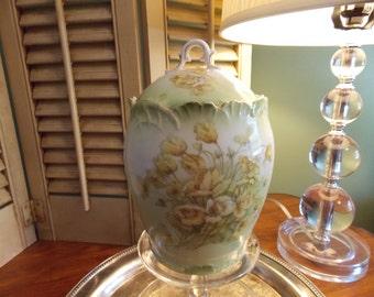 "BISCUIT JAR, Antique ""Bavaria Germany China"" Biscuit Jar"