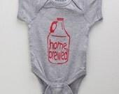 """Craft Beer Baby Bodysuit- """"Homebrewed""""- Premium Screen Printed"""