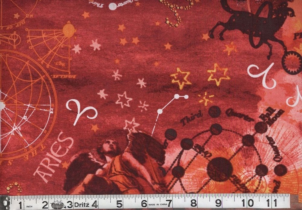 Aires horoscope fabric by the yard astrology fabric for Astrology fabric